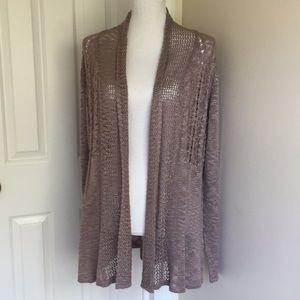 Belldini  Crochet Cardigan Brown Size Large